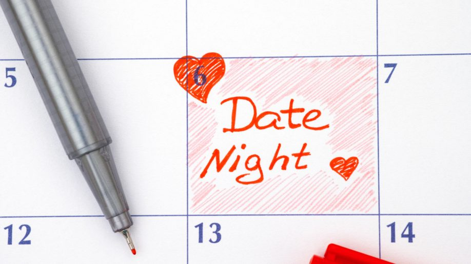 Date Night Calendar Reminder Red Heart