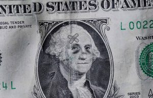 national deficit dollar bill black eye