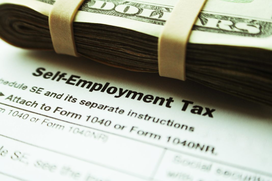 Self Employment Tax Cash Bills Form