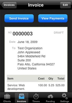 minibooks freshbooks iphone app
