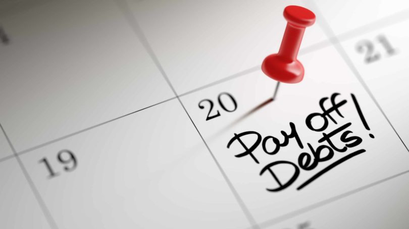 Pay Off Debts Calendar Deadline