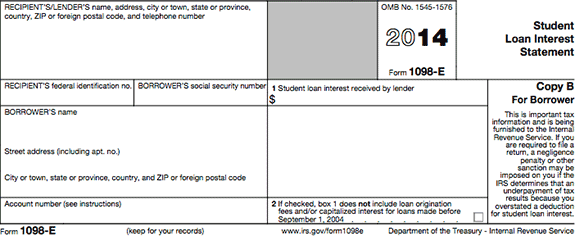 1098-e-black Tax Form Example on mortgage interest2019, statement for new construction, clip art, printable federal,