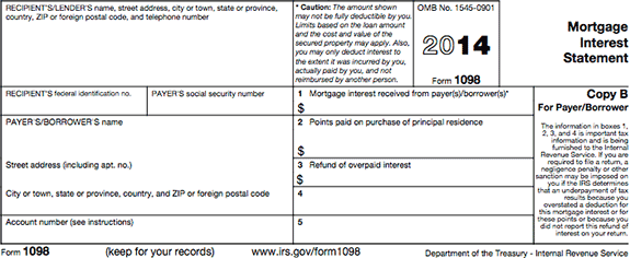 1098 Tax Form Example on mortgage interest2019, statement for new construction, clip art, printable federal,
