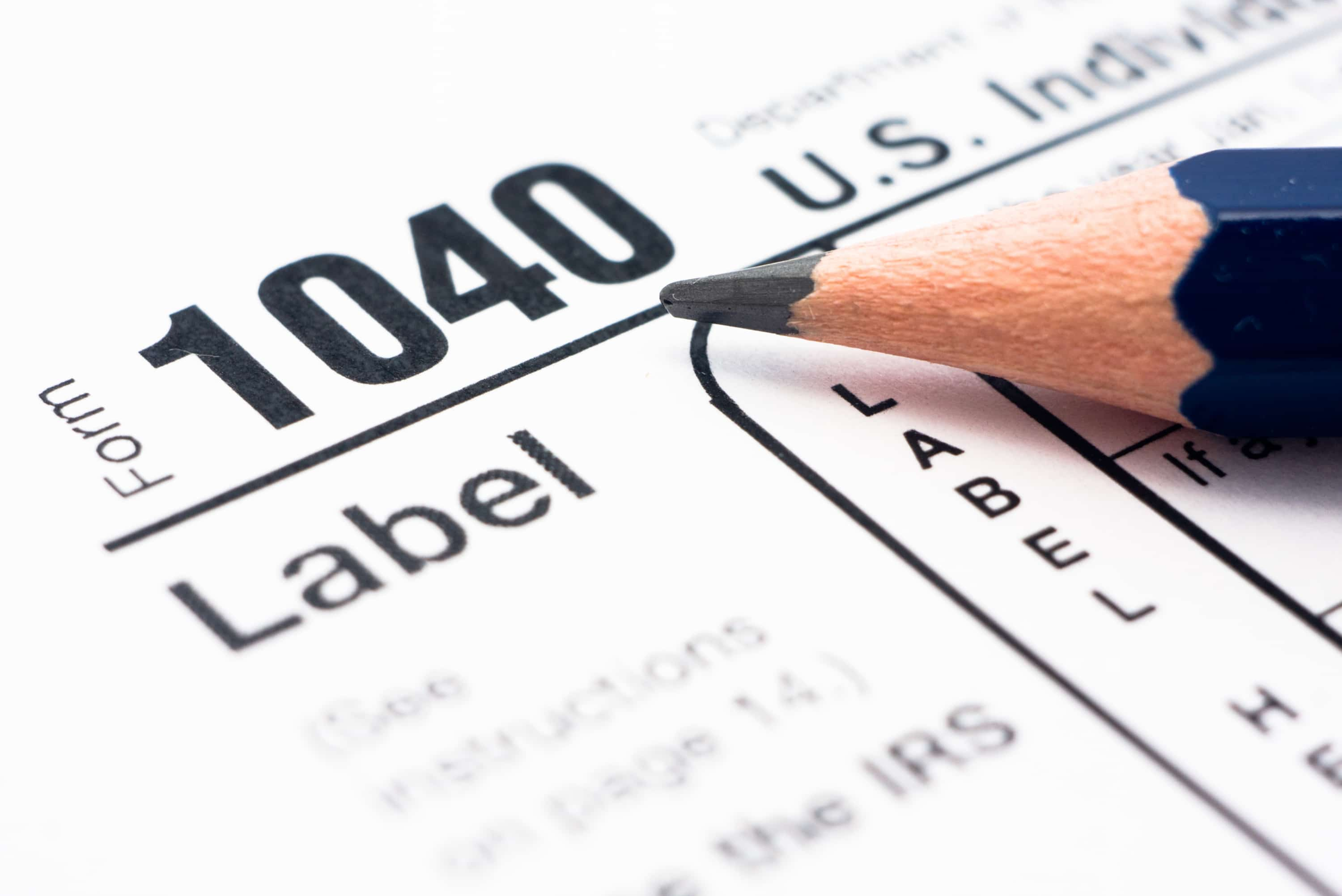 Irs Federal Tax Form 1040 Types Schedules Instructions