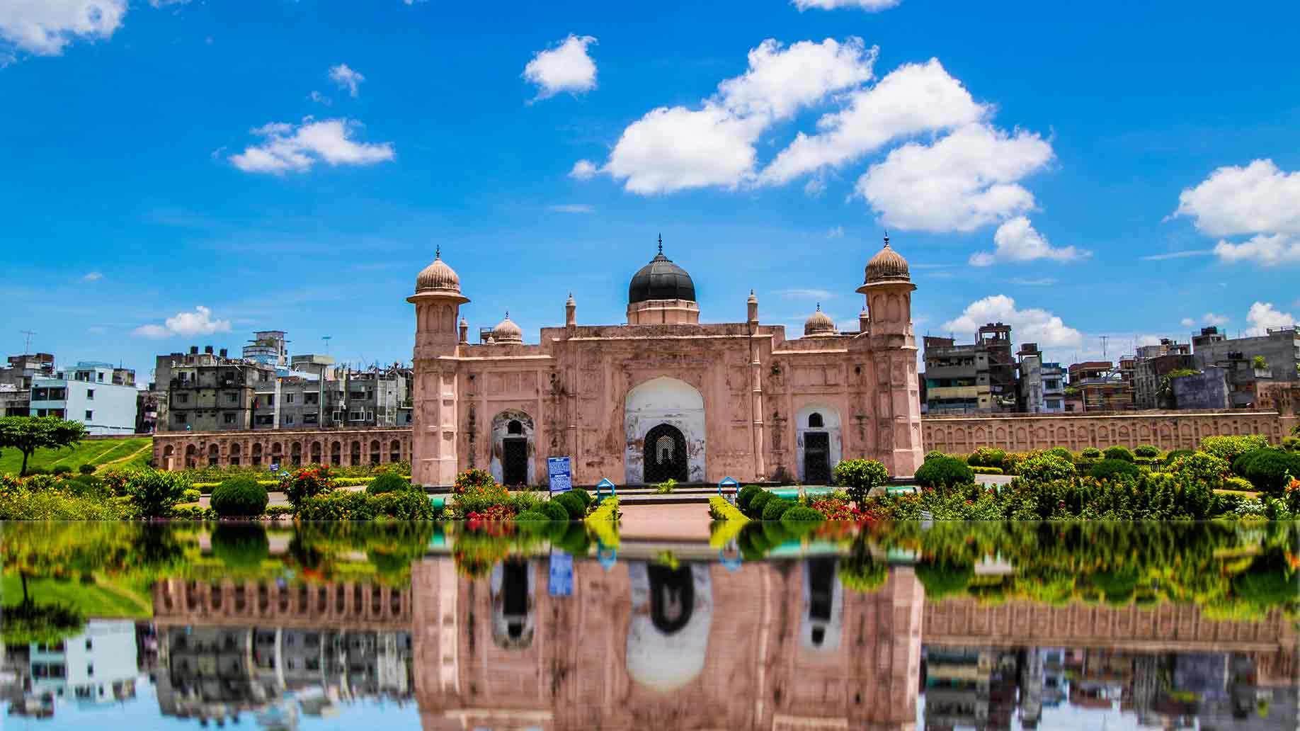 lalbagh fort dhaka bangladesh landmark reflection