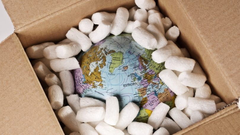 Securely Packed Globe In Box Styrofoam