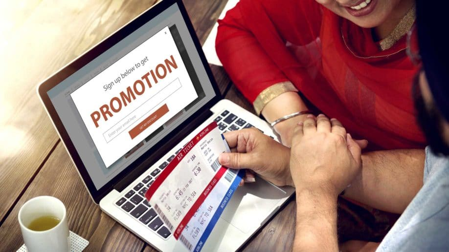 promotion special offer at laptop screen