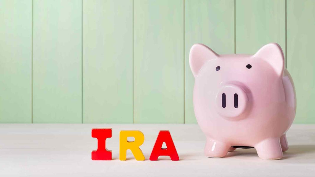individual retirement account ira concept pink?
