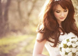 beautiful bride forest