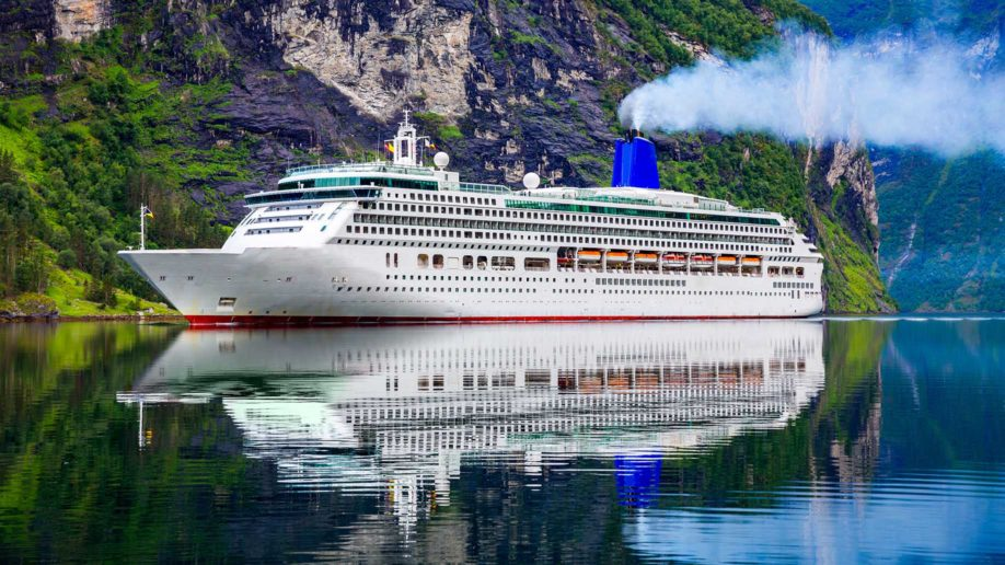 cruise phip on geiranger fjord norway