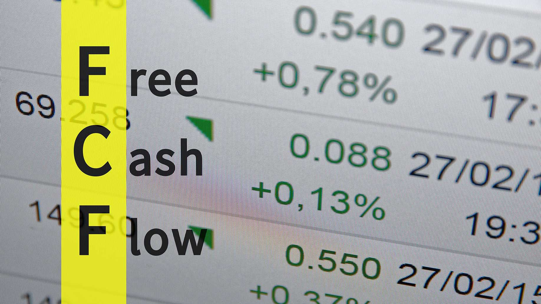 fcf as free cash flow document
