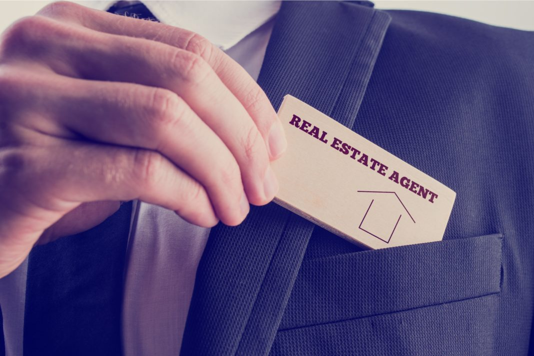 Real Estate Agent Business Card Identification Realtor