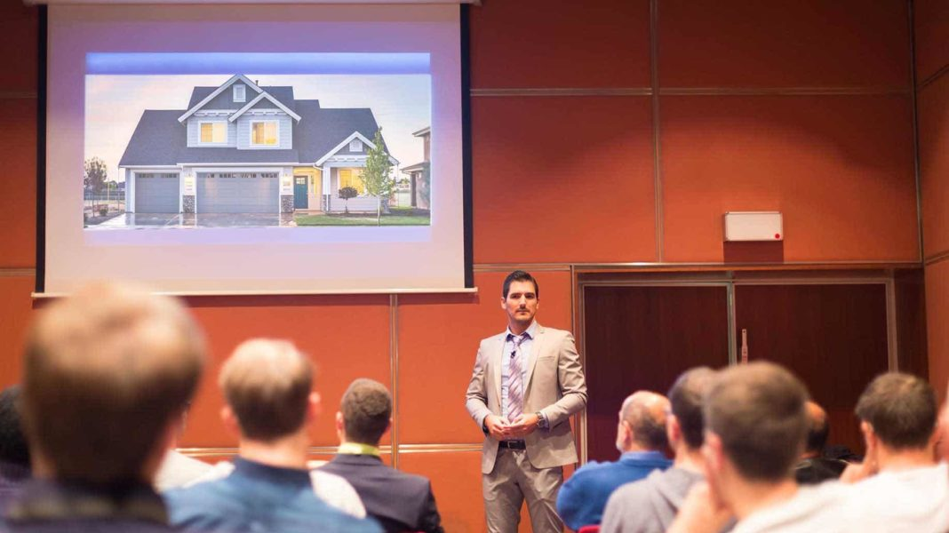 speaker discussing real estate investments?