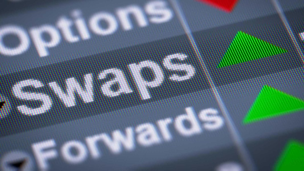 swap a derivative which two counterparties exchange cash flows of financial instrument