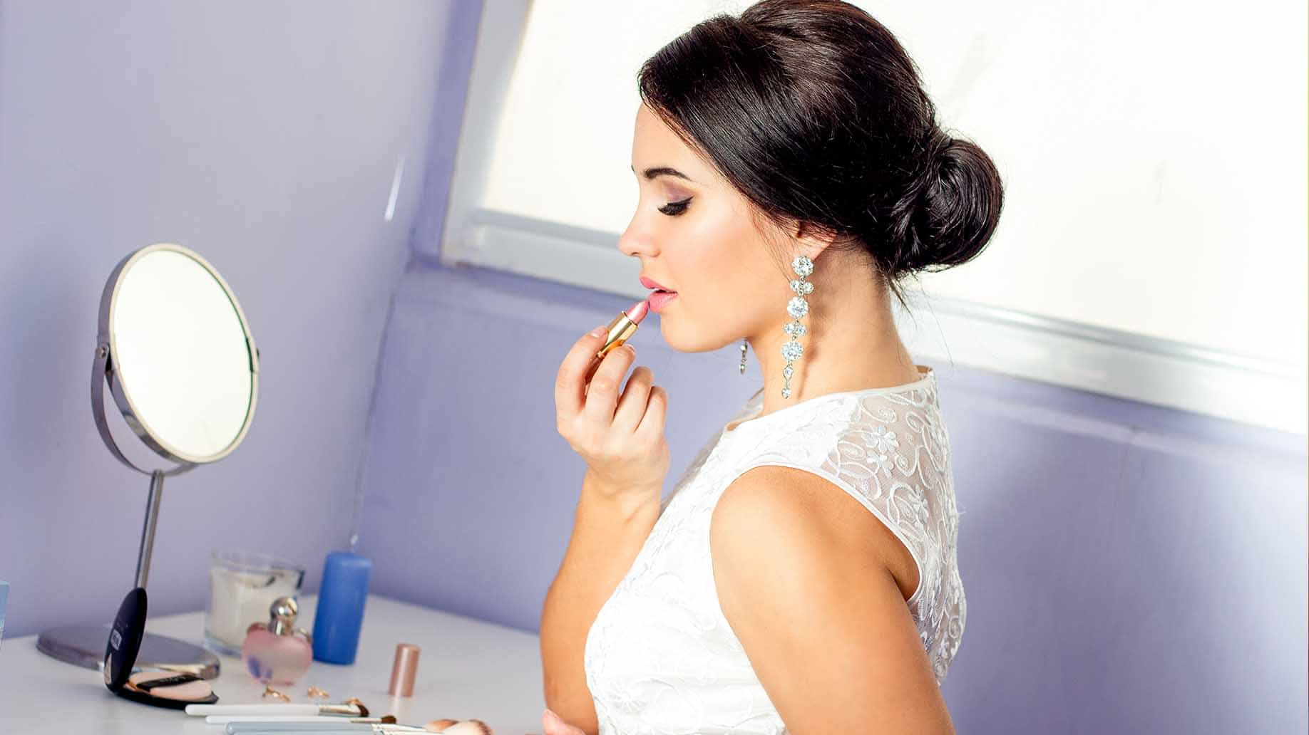 bride makeup done by sister