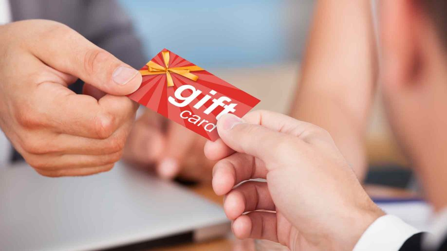 person giving gift card?