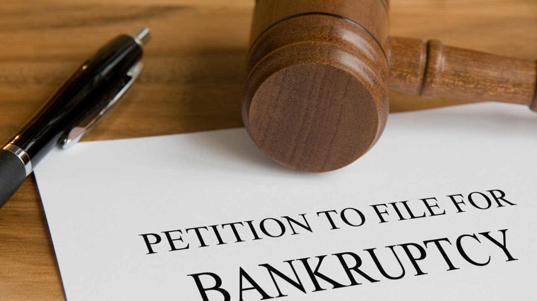 bankruptcy concept judges wooden gavel petition?