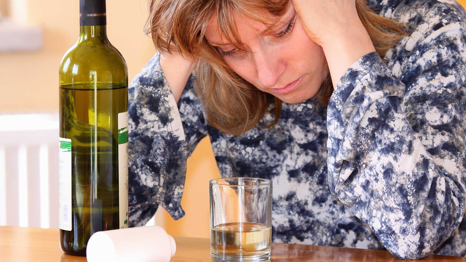 woman used alcohol to mask fellings of depression