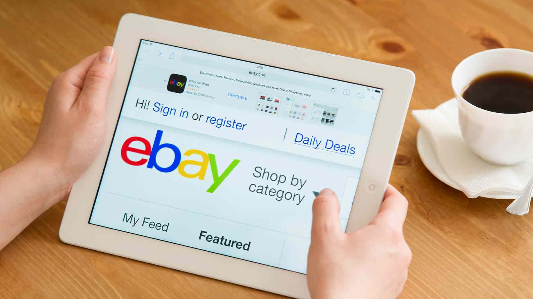 ebay's application website for mobile devices