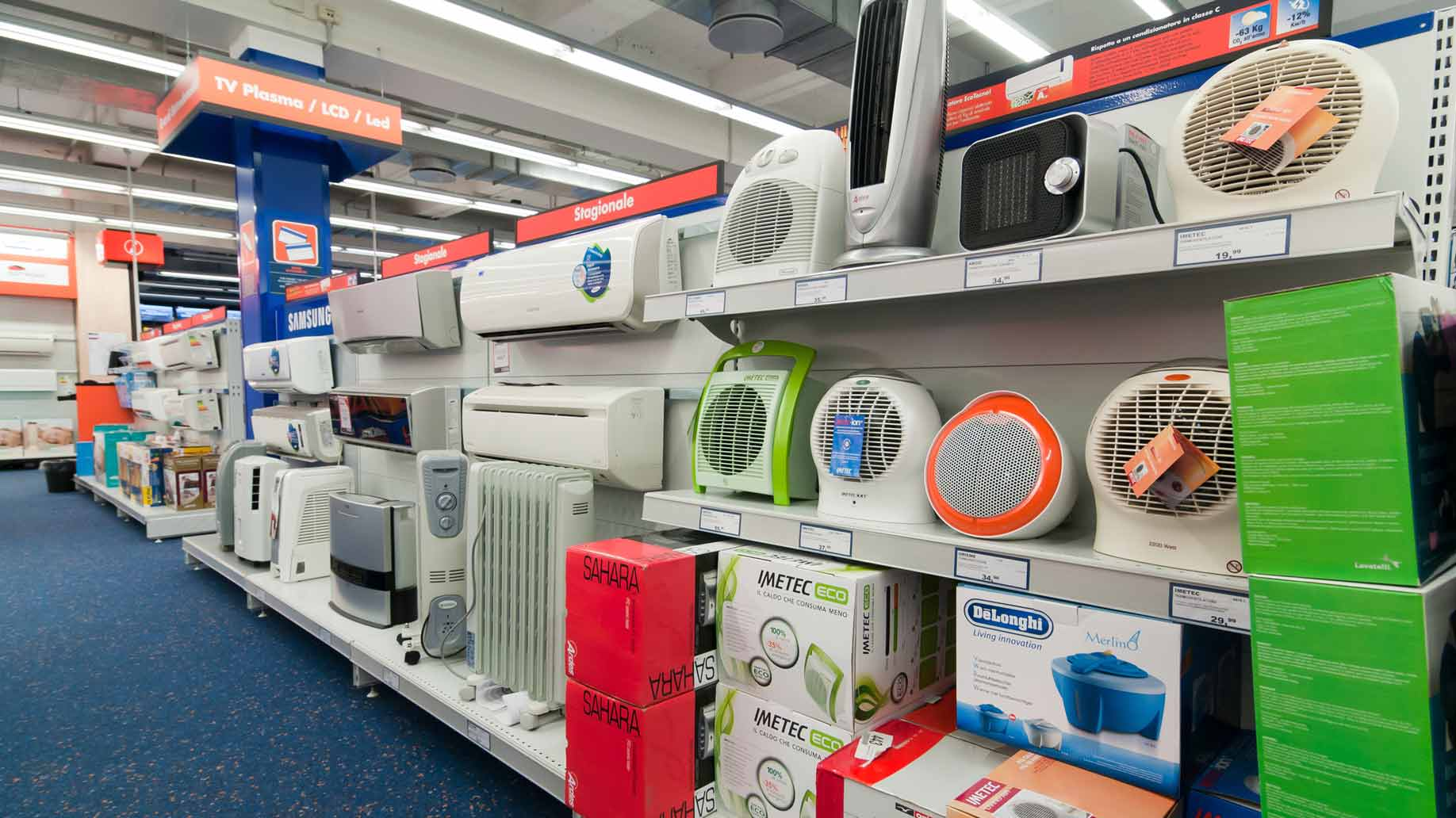 fans air conditioners sale store