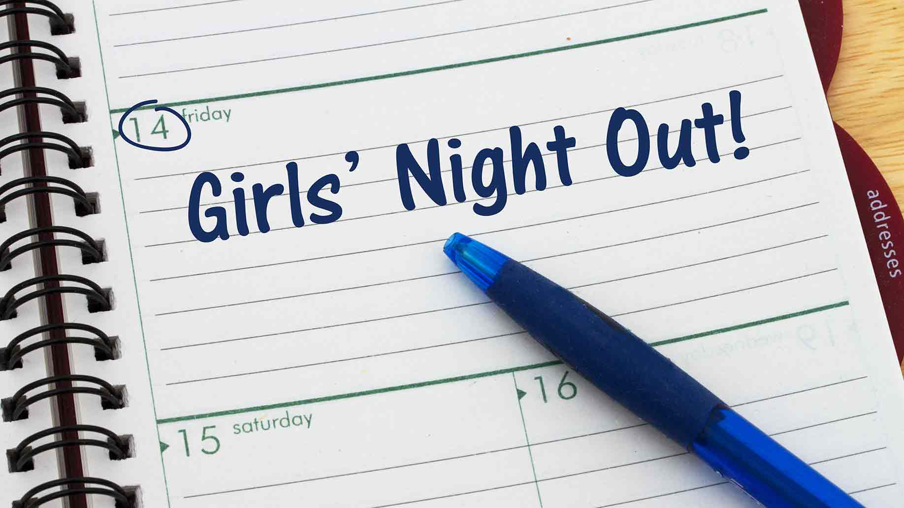 date girls night out day planner