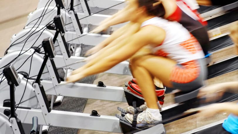 Rowing Machine Provides Resistance