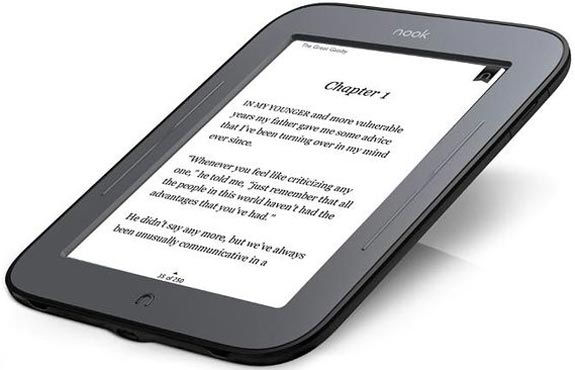 barnes & noble simple touch e-reader