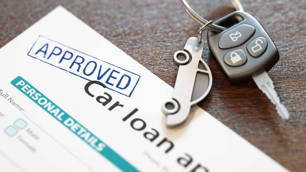approved car loan application keys