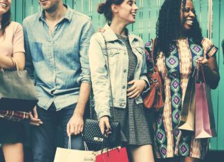 group people shopping concept
