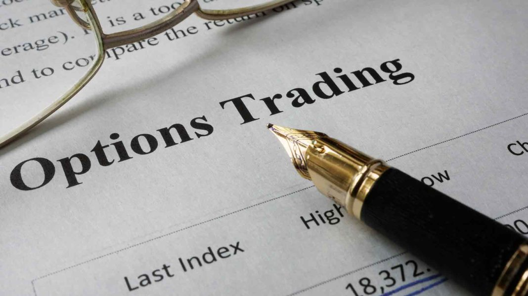 page newspaper words options trading
