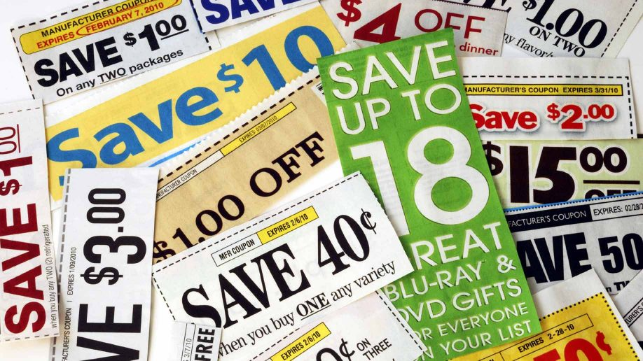 pile of coupons