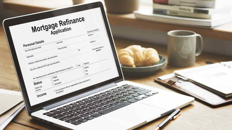 mortgage refinance application cash loan concept
