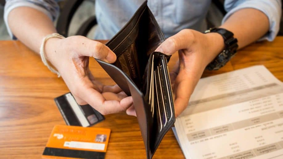credit card debt holding empty wallet?