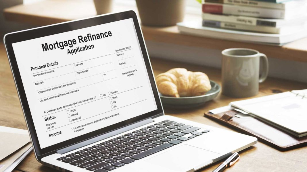 mortgage refinance application cash loan concept?