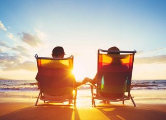 retirement vacation concept happy mature retired?