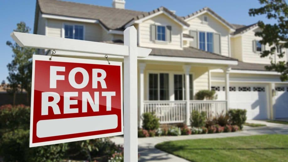 right facing red rent real estate?