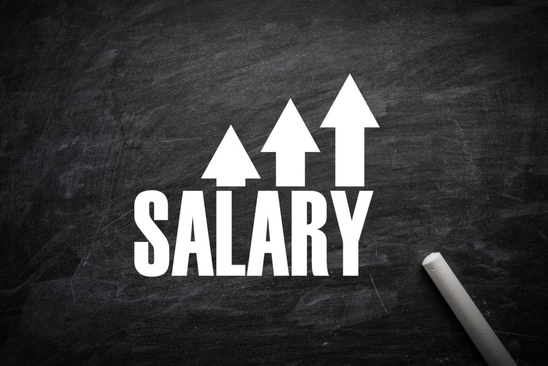 Salary Raise Chalkboard Increase Arrow
