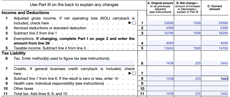 form 1040x instructions - how to file an amended tax return
