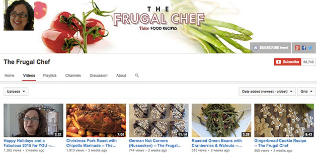 10 frugal lifestyle youtube channels worth following the frugal chef youtube forumfinder Choice Image