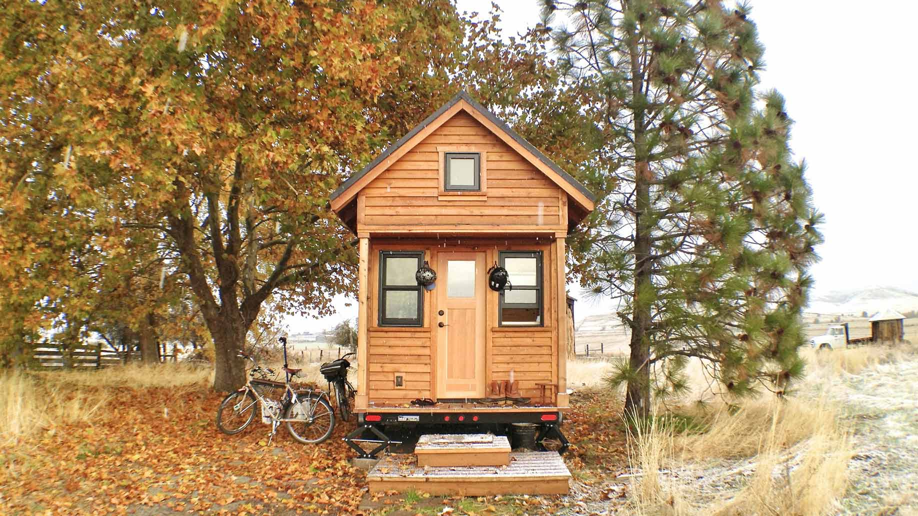autumn tiny house photo by Tammy Strobel
