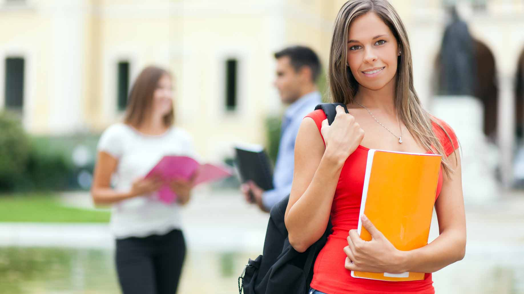 woman attending grad school classes