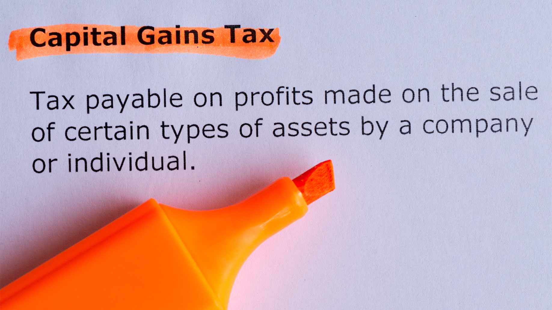 capital gains highlighter