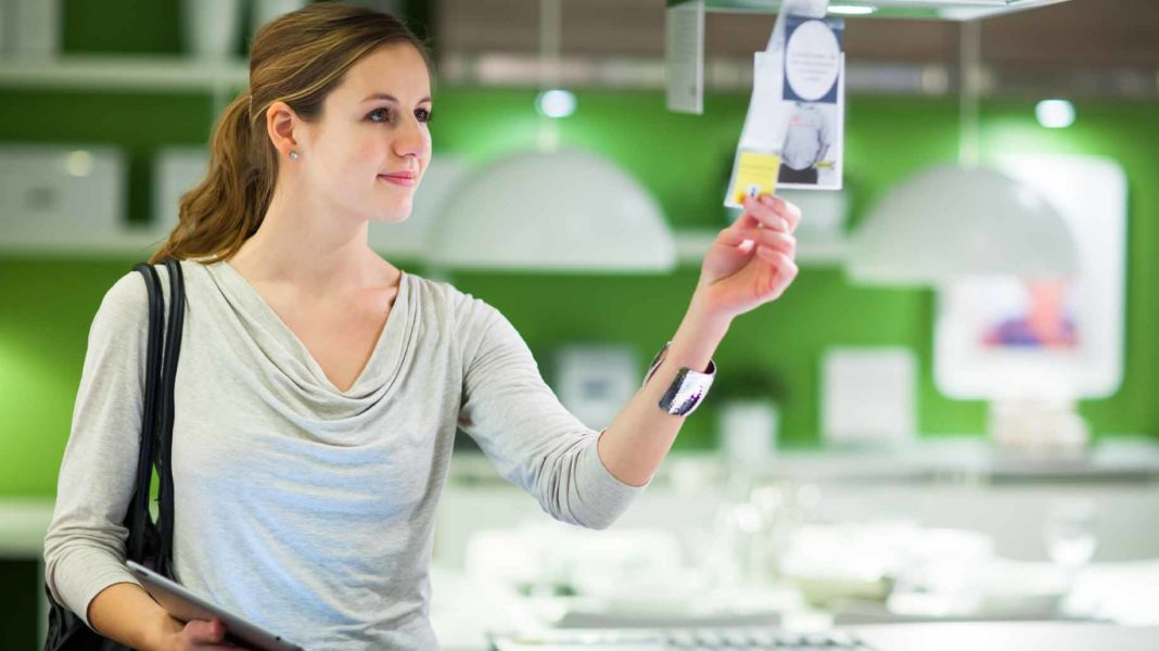 woman shopping for appliances