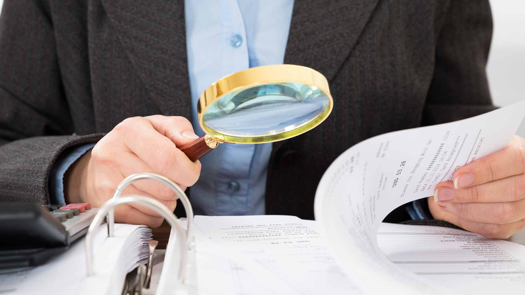fraud investigation at a business