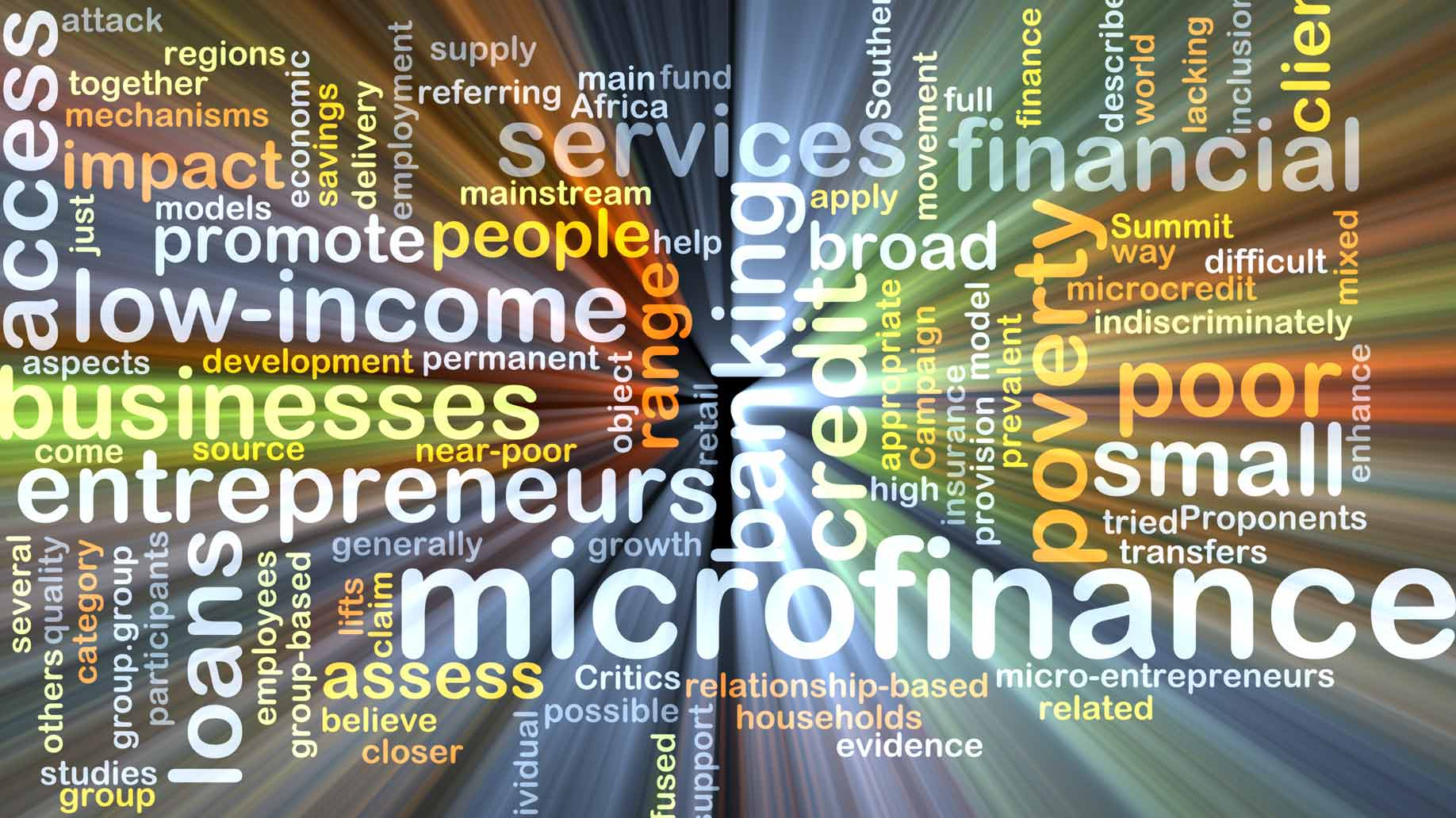 microfinance word cloud