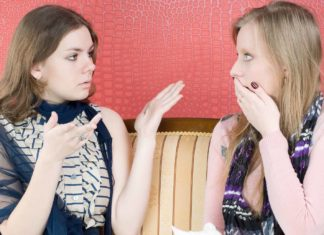 women having a political discussion