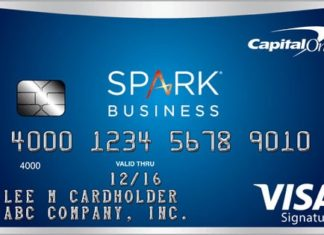capital one spark miles select credit card