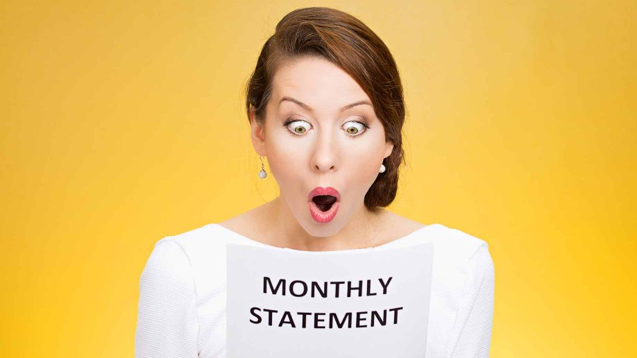 checking a monthly bank statement