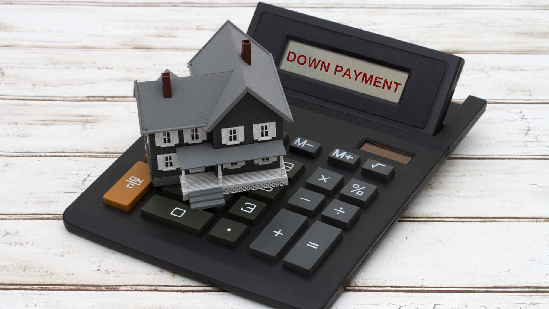 making a down payment on a house