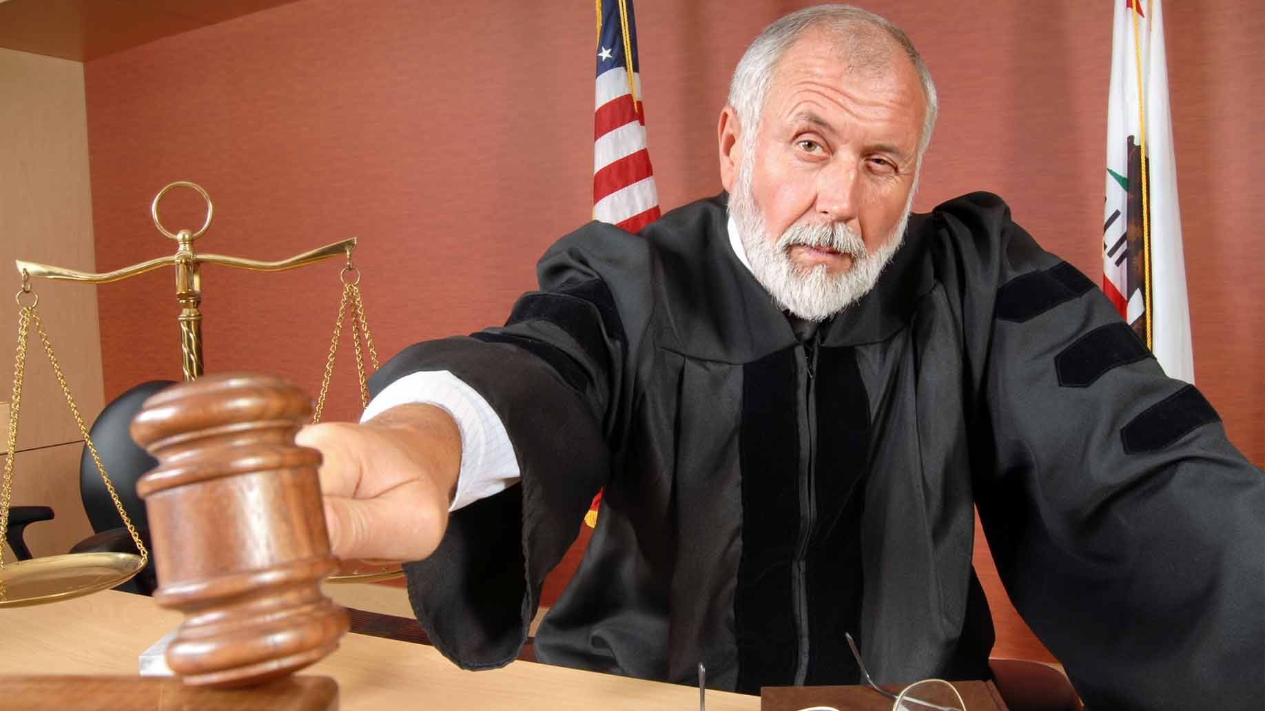 judge makes his ruling during a courtroom trial